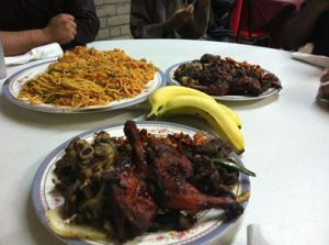 somalian food with banana