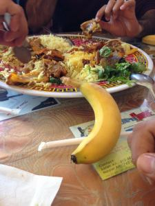 somali food with banana