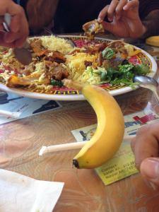 somali food with banana