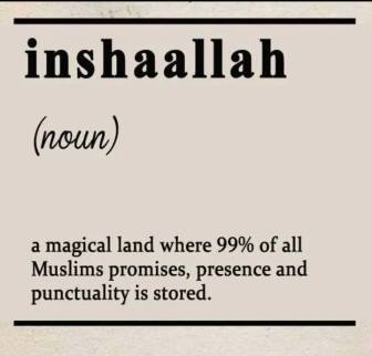 insha Allah meaning - joke