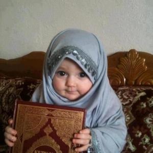 cute muslim baby girl