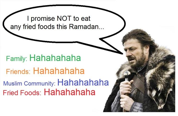 no fried foods promise in ramadan