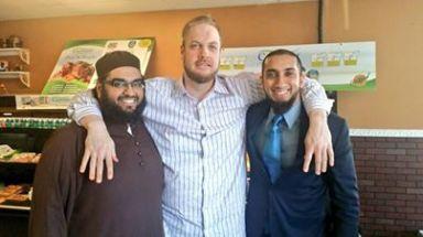 Three sheikhs dining