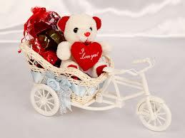 love bear on bicycle