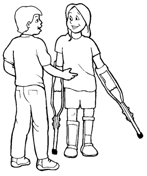 two people walking together coloring pages