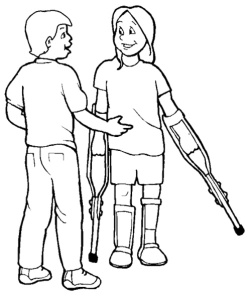 People-Disabilities-With-Friend-Coloring-Page
