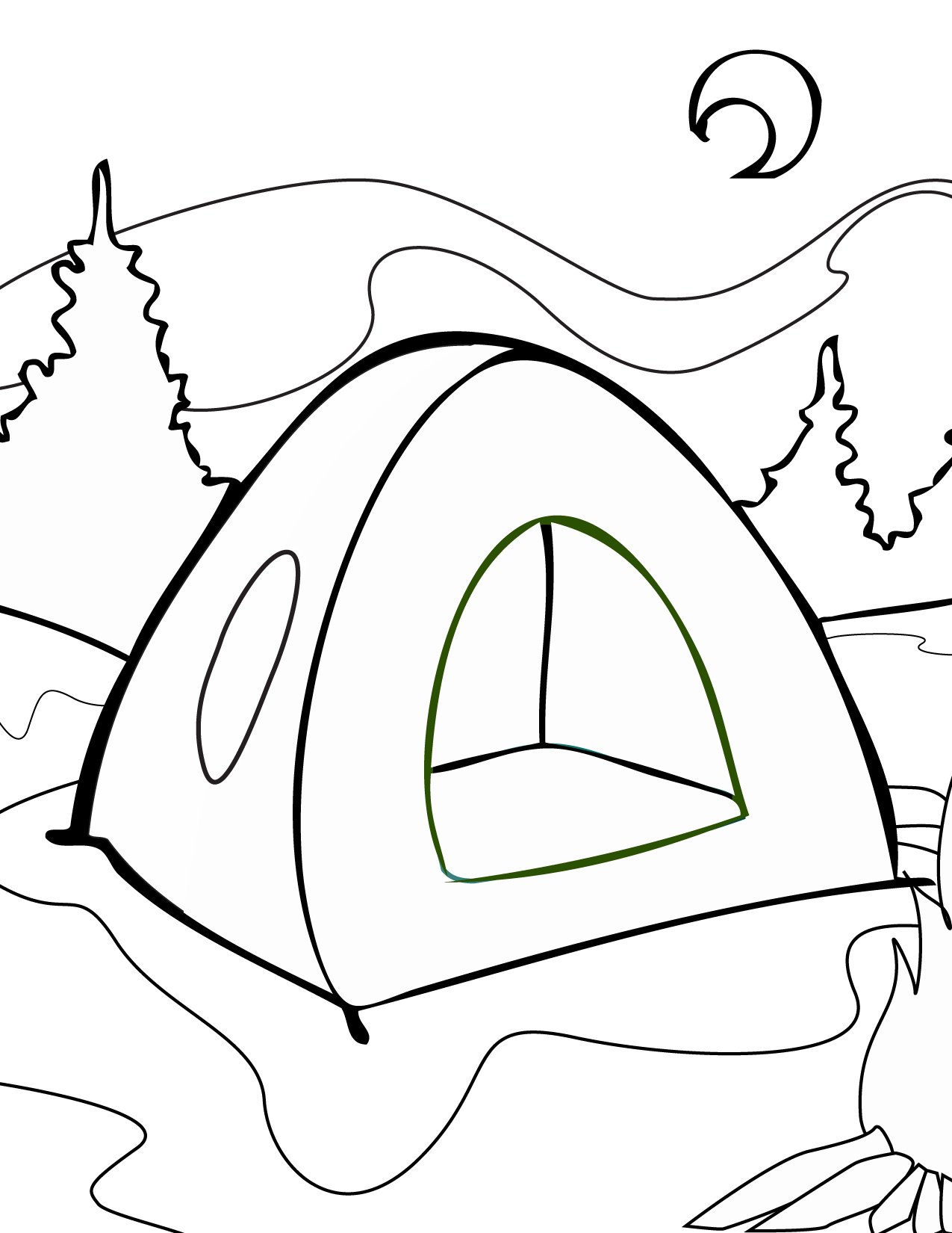 Free coloring pages national parks - There Were Once Two Friends Named Qassim And Burhan Who Went Camping At One Of The State S National Parks