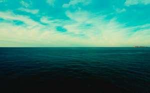 wide dark ocean