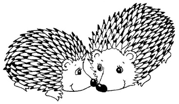 2 porcupines coloring page