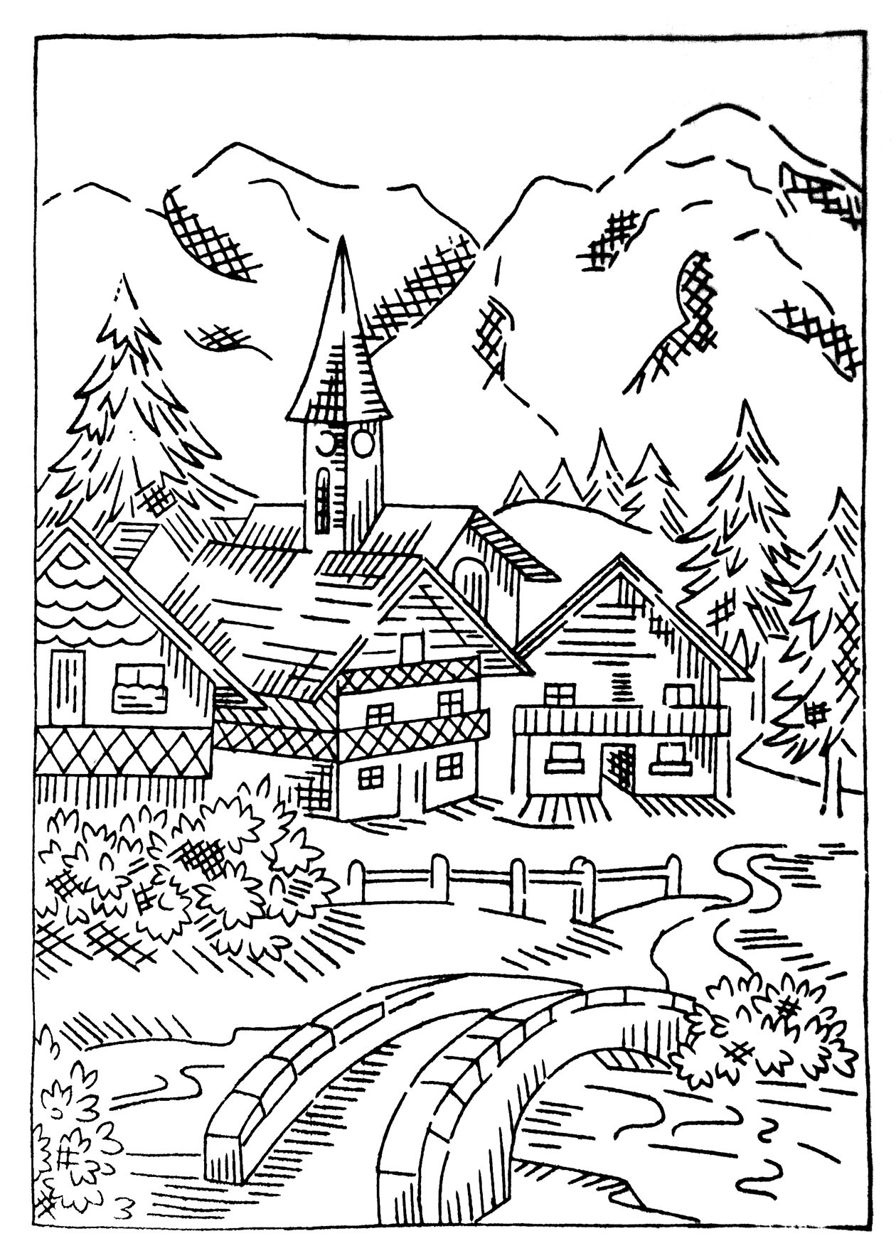 Colouring Pages Village : The King s Idea Stories for Muslim Kids