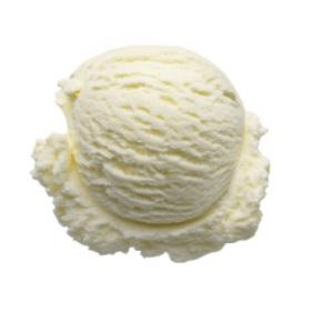 Plain ice cream